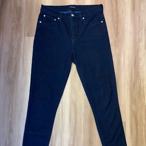 "Jcrew 9"" High Rise Toothpick Dark Wash Jeggings"